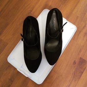 BCBG black suede shoes 8.5